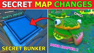 SECRET MAP CHANGES! *SECRET BUNKER RETURNS* FORTNITE CHAPTER 2 NEW MAP (HIDDEN EASTER EGGS)