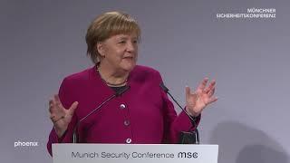 Münchner Sicherheitskonferenz - Rede von Bundeskanzlerin Merkel am 16.02.19