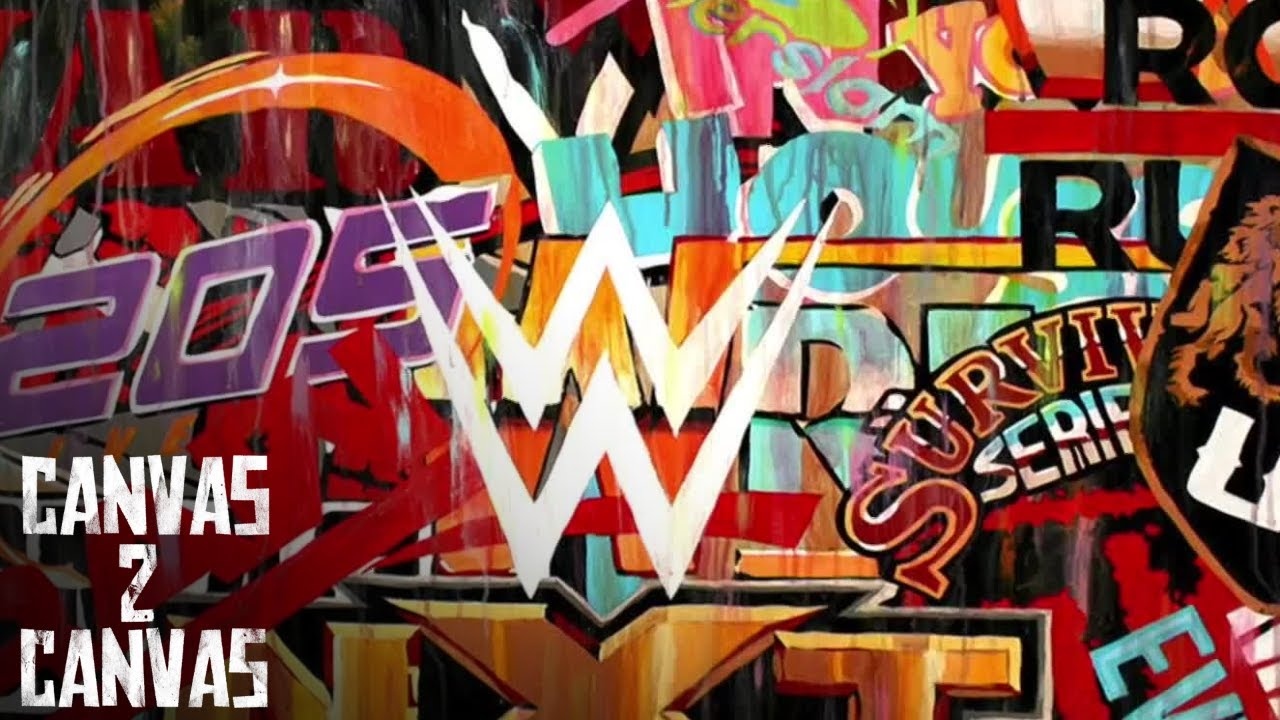 A stunning tribute to  WWE logos! - Canvas 2 Canvas