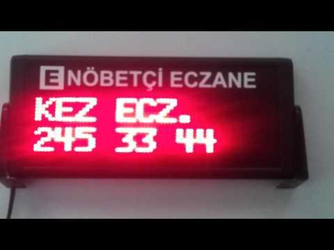 Nobetci Eczane Panosu Dijital Nöbetçi Eczane Panosu