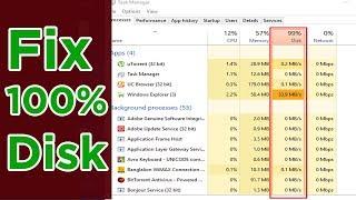Fixed 100% Disk Usage on Microsoft Windows 10/8.1/8/7/Vista | Windows 10 100% disk usage | MrFahad