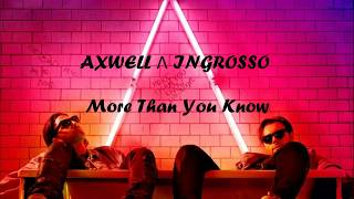 Video Lirik dan terjemahan More than you know Axwell   Ingrosso cover by j fla download MP3, 3GP, MP4, WEBM, AVI, FLV Mei 2018