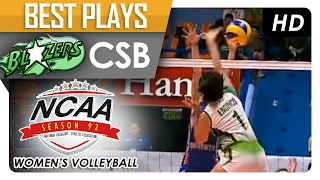 getlinkyoutube.com-Angela Enginco for the winning spike! | CSB | Best Plays | NCAA 92 MV