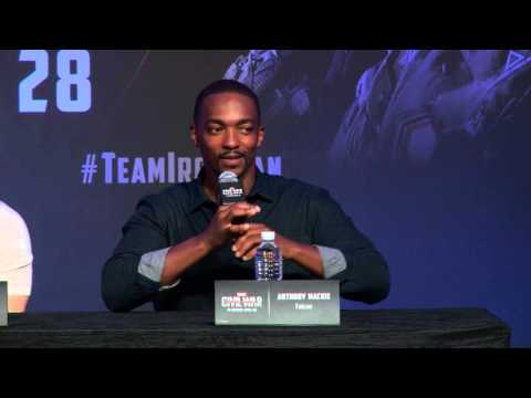 Anthony Mackie takes a swipe at Team Iron Man after being described as wearing a bird suit