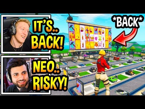 """Streamers React To *NEW* """"FUTURISTIC"""" RISKY REELS! (BACK) Fortnite Moments"""