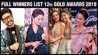 12th Gold Awards 2019 FULL WINNERS LIST  | Hina Khan, Surbhi, Shaheer, Erica, Karan Singh Grover,