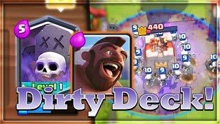 clash royale hog graveyard deck omg finaly got it insane grand challenge battle