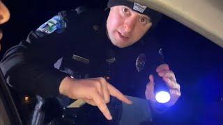 Hilarious video. Guy makes cop laugh, then makes us all laugh!