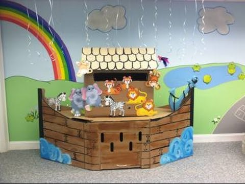 How To Make A Large Noah S Ark From Boxes Youtube