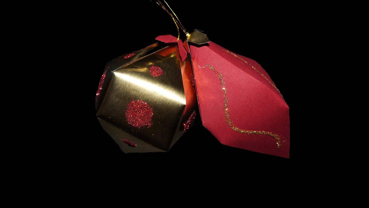 weihnachtskugeln aus papier bastelanleitung paper craft hd de youtube. Black Bedroom Furniture Sets. Home Design Ideas