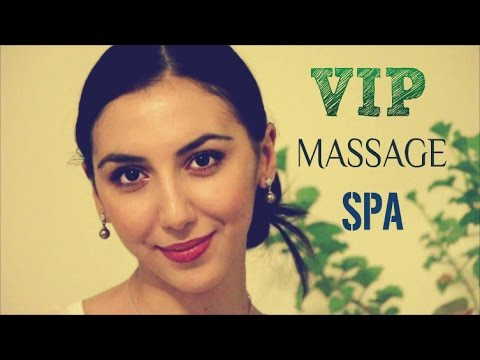 ASMR Role Play SPA & ASMR MASSAGE with LOTION SOUNDS