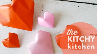 DIY Origami Valentines // The Kitchy Kitchen