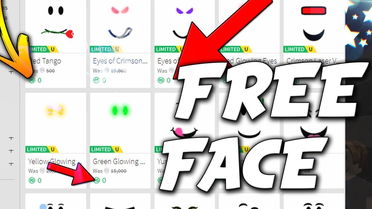 how to get free faces on roblox 2018