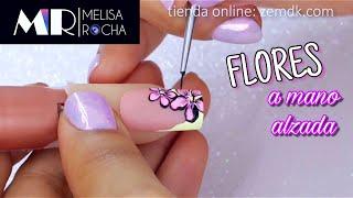 Uñas con diseño en Mano Alzada 💖pintura acrílica💖 thumbnail
