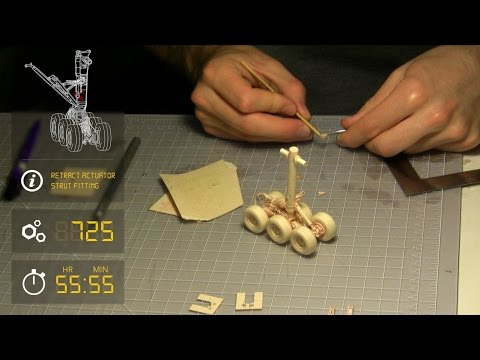 Manila Folder 777 - Main Landing Gear - Design+Build Time-lapse with Info! **60FPS**