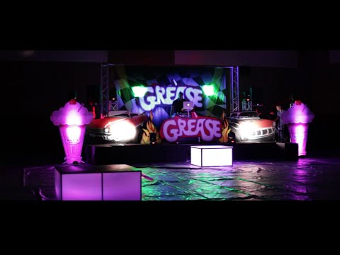 Party up tour centennial hs grease theme youtube for Photo decoration