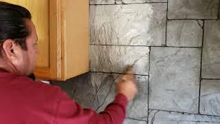 como decorar tu cocina con piedra hecha a mano y de bajo costo