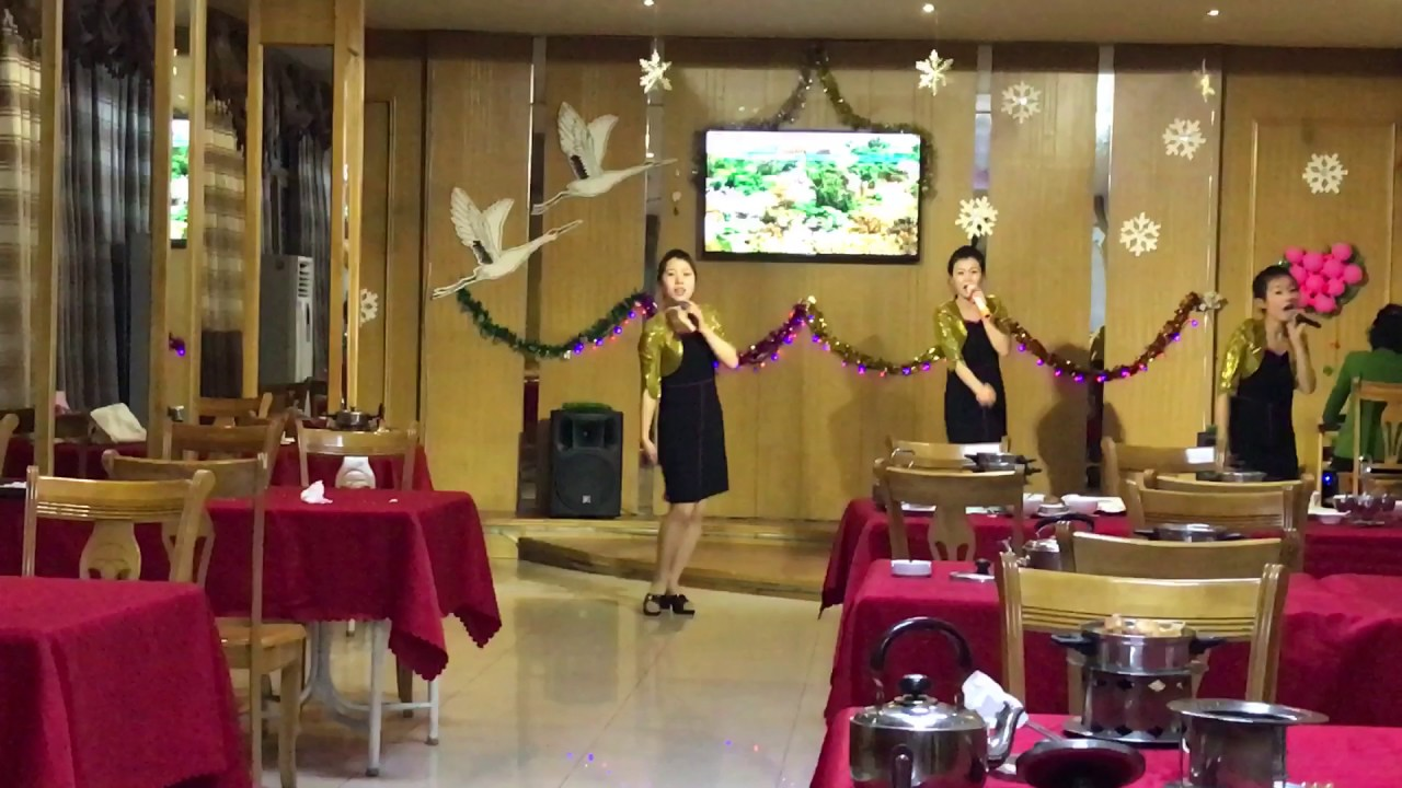 Performance in Pyongyang restaurant