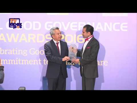 Barrister Gul Nawaz Khan receives GLOBAL GOOD GOVERNANCE INTERNATIONAL AWARD 2016