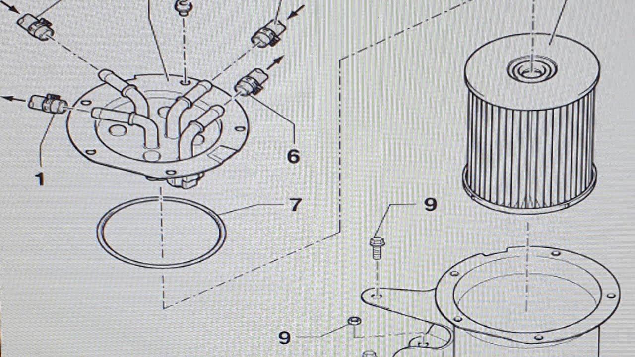 VW Audio Skoda 2.0 TDI Common Rail Fuel Filter Replacement