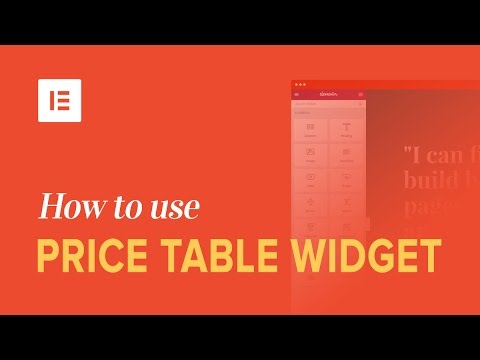 How to Make Price Tables in WordPress With Elementor