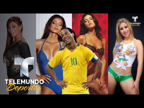 Las novias de Ronaldinho ¡Golazos fuera de la cancha! | Deporte Rosa | Telemundo Deportes