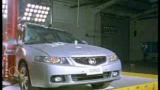 Краш-тест Honda Accord от EuroNCAP. Боковой удар о столб