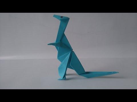 Origami  Dinosaur - How to make an origami flying dinosaur