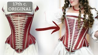 Making 17th Century Stays - Historical Corsetry