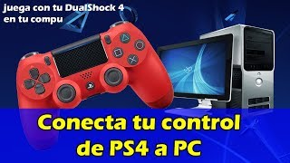 Conecta tu control de PS4 en tu PC