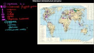 316  Мировые минеральные ресурсы