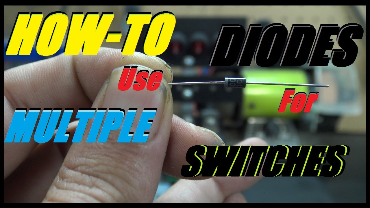 How To Wire Multiple Rocker Switches Together Using Diodes (flash all your  lights at once)
