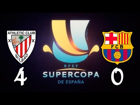 Athletic Bilbao 4 vs F.C.Barcelona 0 - Supercopa de España 2015