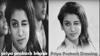 Priya Prakash Varrier Realistic Drawing  | Priya Prakash Sketch - Oru Adaar Love |