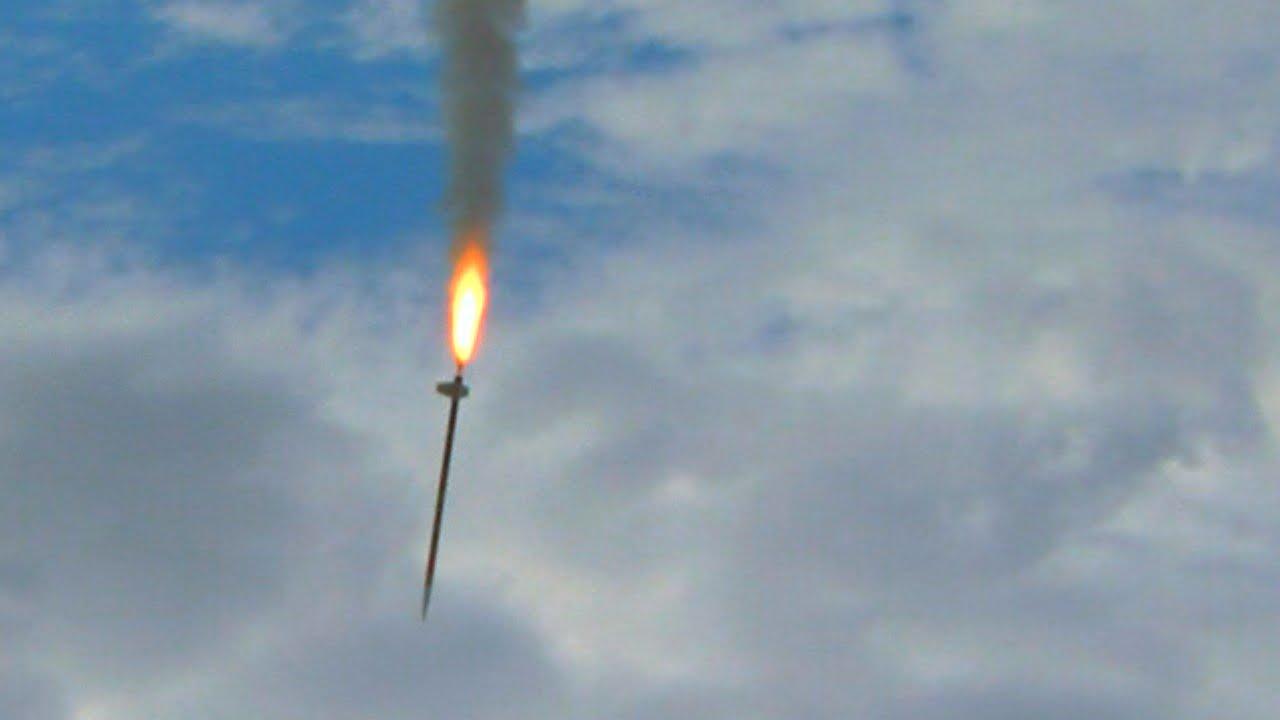 rocket fails from the black rock desert