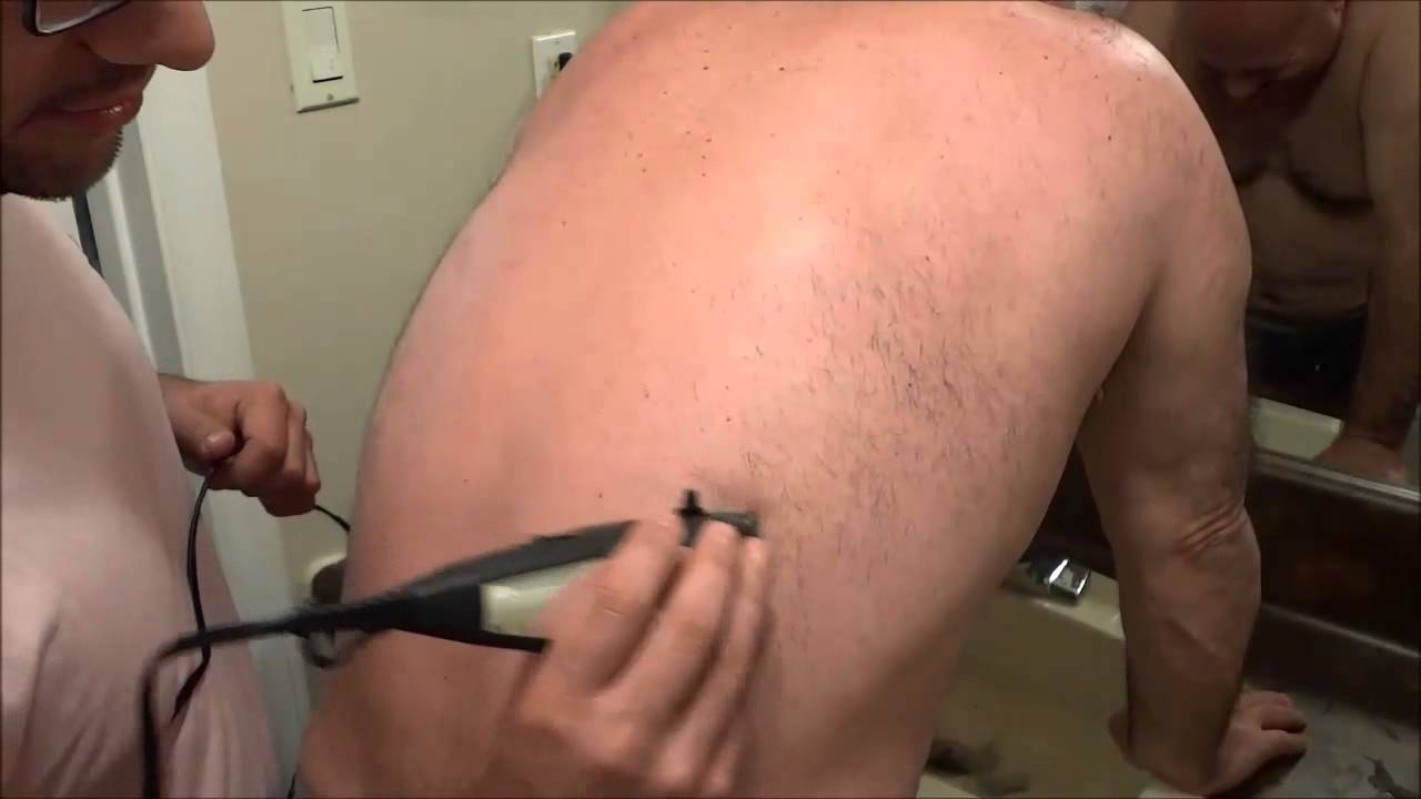 Manscaping back hair