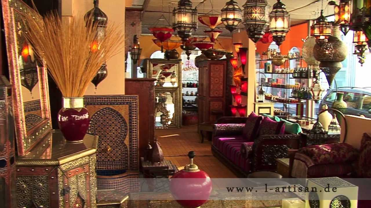 l artisan orientalische lampen m bel und wohnaccessoires youtube. Black Bedroom Furniture Sets. Home Design Ideas