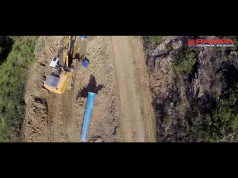 Rampa Travaux Publics  Bâtisseurs d'environnement filmer par un drone