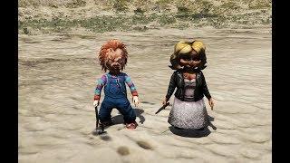 GTA 5 - Búp bê ma Chucky và bạn gái Tiffany