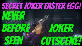 NEVER BEFORE SEEN JOKER EASTER EGG!! (ARKHAM KNIGHT)