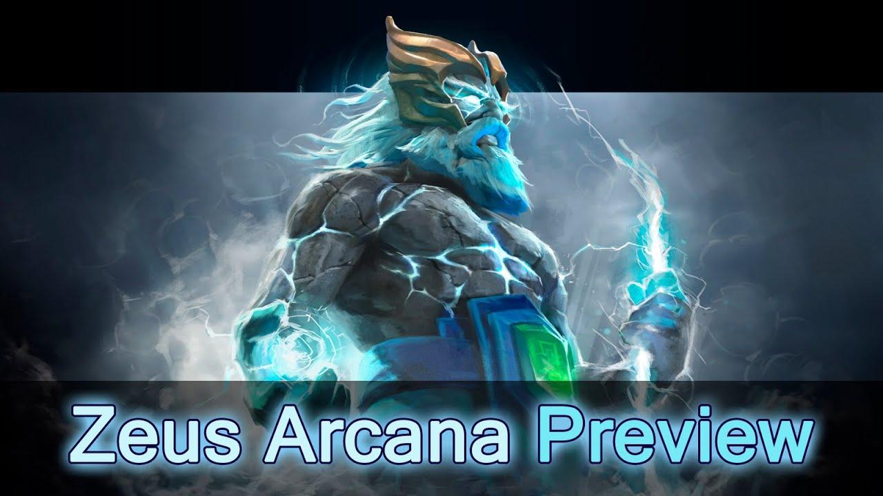 Dota 2 Arcana: Tempest Helm Of The Thundergod Zeus Arcana Preview