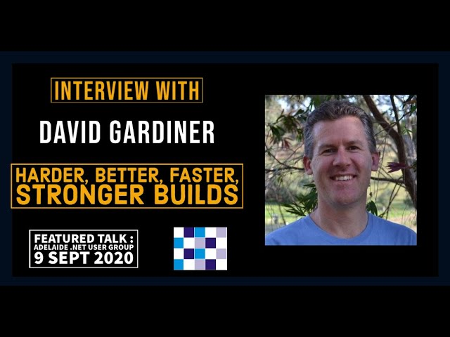 Interview with David Gardiner - featured presenter at ADNUG, 9 September 2020