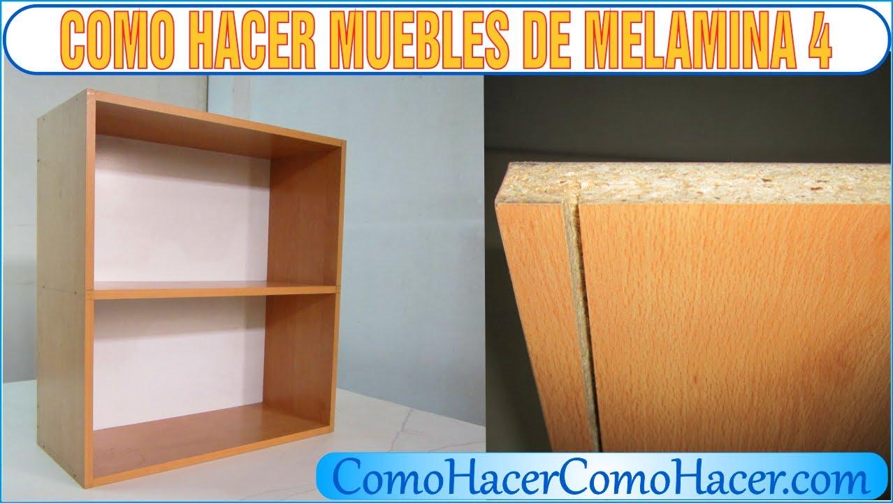 Bricolage como hacer muebles laminados melamina 4 youtube for Libro de muebles de melamina