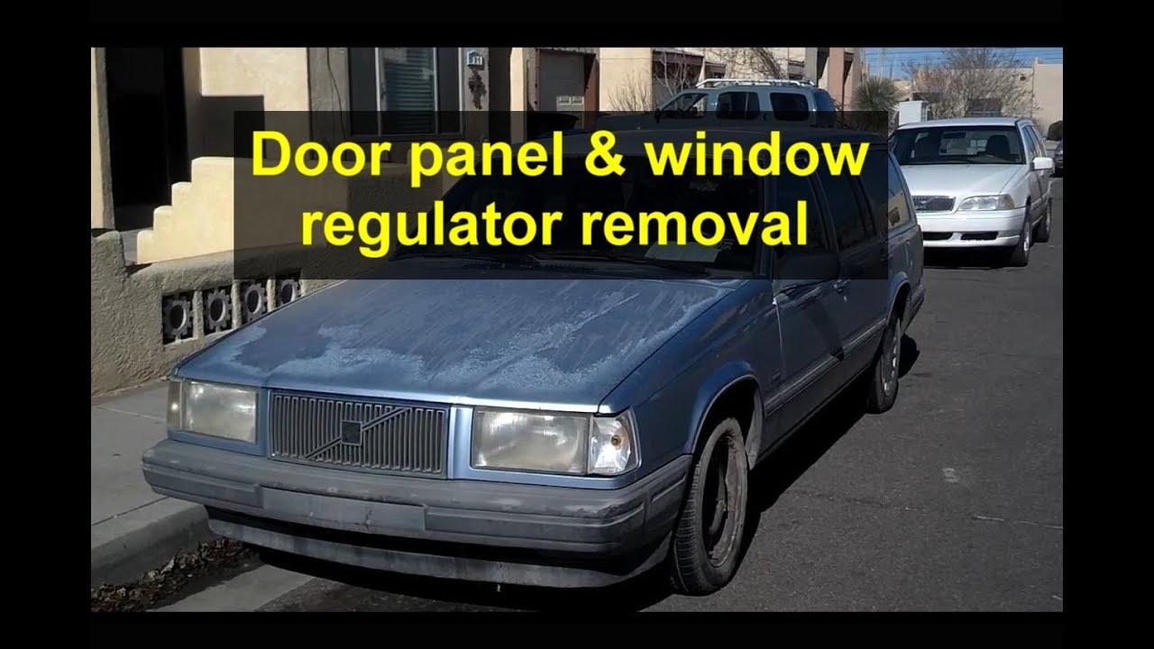 Door Panel Removal And Window Regulator Replacement Volvo 740 760 240 Relay Installation 940 Etc Votd