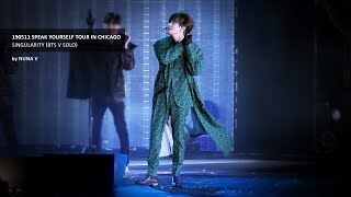 190511 SPEAK YOURSELF Tour in CHICAGO - Singularity / BTS V / 방탄소년단 뷔 (4K fancam)