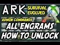 ARK Survival Evolved Engram's Cheat /Admin Commands Tutorial