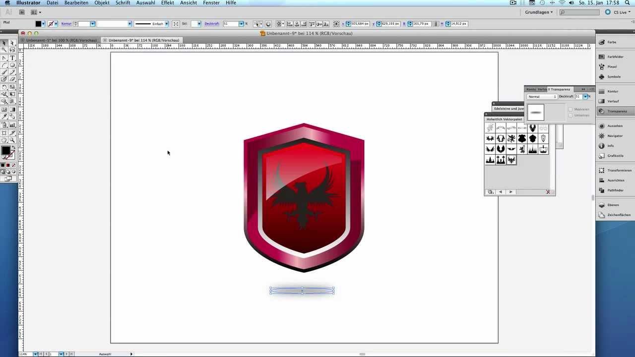 Wappen erstellen Adobe Illustrator - YouTube