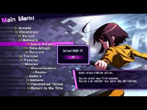 UNDER NIGHT IN-BIRTH Exe:Late[cl-r] - Linne Score Attack Mode |