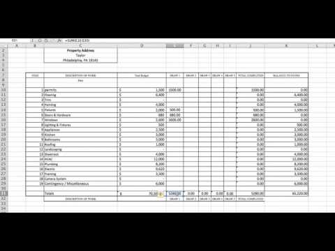 How To Fill Out Your Line Item Construction Budget & The Draw Request Process