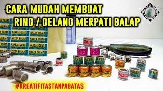 CARA MUDAH MEMBUAT RING / GELANG MERPATI BALAP